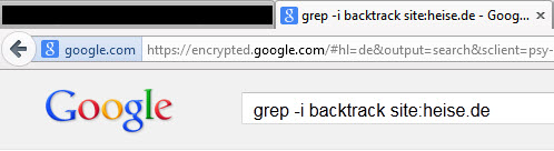 grep -i backtrack site:heise.de