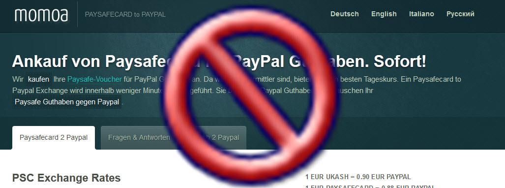 Schlechte Erfahrung mit ukashtopaypal.net