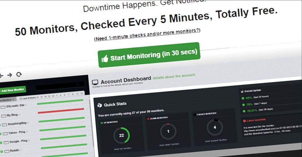 UptimeRobot: Die beste rudimentäre Server-Überwachung gibt's nur kostenlos.