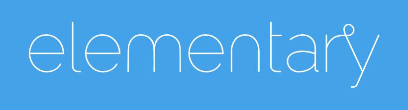 ElementaryOS Logo Linux Text Widescreen