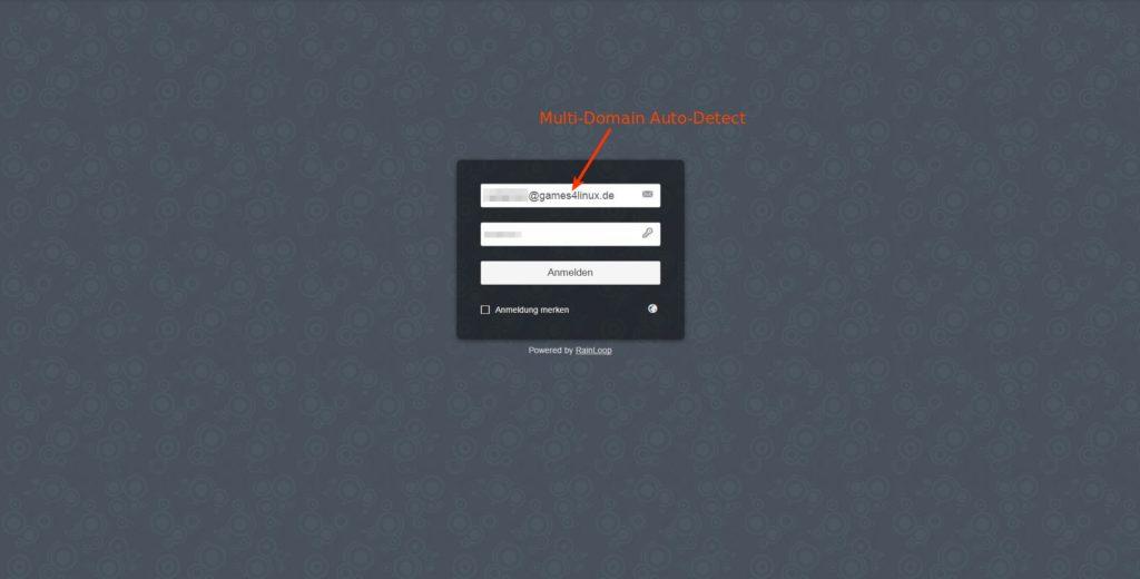 Es können auch Freemailer wie @gmail, @gmx, etc eingerichtet werden.